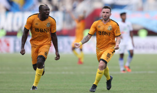 Hasil Bhayangkara FC vs Madura United, Bhayangkara FC, Madura United, Herman Dzumafo, Liga 1 2018, Stadion PTIK