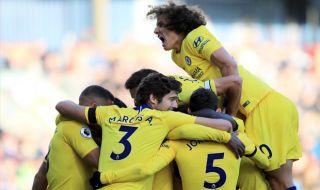 Premier League 2018-2019, Liga Inggris, Chelsea, Burnley, Burnley 0-4 Chelsea