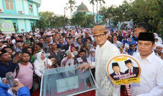 Sandiaga Uno Resmikan Rumah Pemenangan di Surabaya