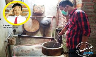 TKP: Sumur maut di dalam dapur rumah Supardi.