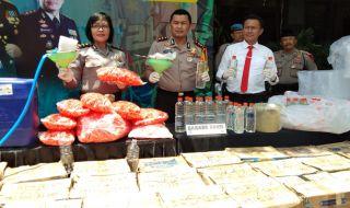 Kios Arak Jawa Ilegal Digerebek Polres Malang Kota