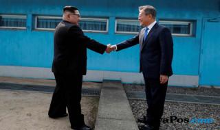 Kim Jong Un, Moon Jae, pertemuan korea
