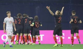 UEFA Nations League, Timnas Kroasia, Timnas Spanyol, Kroasia 3-2 Spanyol