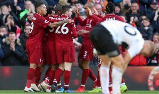 Premier league 2018-2019, Liga Inggris, Liverpool, Fulham, Liverpool 2-0 Fulham