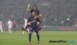 Kylian Mbappe, Edinson Cavani, Paris Saint-Germain, Caen, Ligue 1