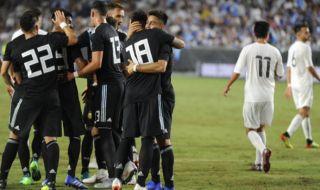 Laga persahabatan, laga uji coba, Argentina 3-0 Guatemala, messi, dybala, icardi, aguero, di maria