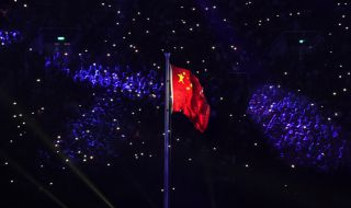 Asian Games 2018, Closing Ceremony, Tiongkok, Pengibaran Bendera Tiongkok