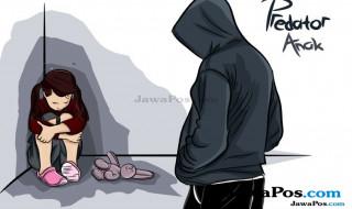 ilustrasi predator anak