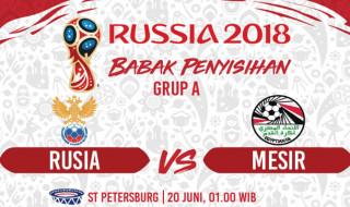 Prediksi Rusia vs Mesir, Timnas Rusia, Timnas Mesir, Piala Dunia 2018, Mohamed Salah