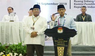 Pasangan capres-cawapres nomor urut 02 Prabowo Subianto-Sandiaga S Uno.