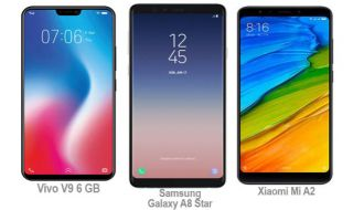 Vivo V9 6 GB, Samsung Galaxy A8 Star, Xiaomi Mi A2