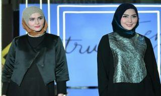 fenita arie, fenita arie luncurkan busana muslim, koleksi l.tru terbaru, Jakarta Modest Fashion Week 2018,