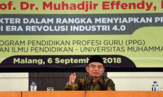 Menteri Pendidikan dan Kebudayaan Indonesia (Mendikbud) Muhadjir Effendy