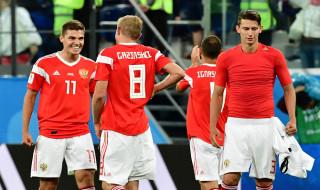Timnas Rusia, Timnas Uruguay, Piala Dunia 2018, Lolos Babak 16-Besar