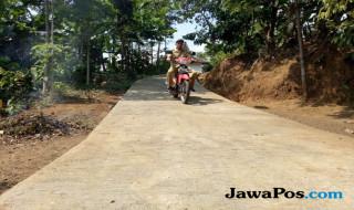 desa ngepung, kecamatan sukapura, jalan, rabat beton