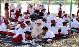 siswa sd, gempa lombok