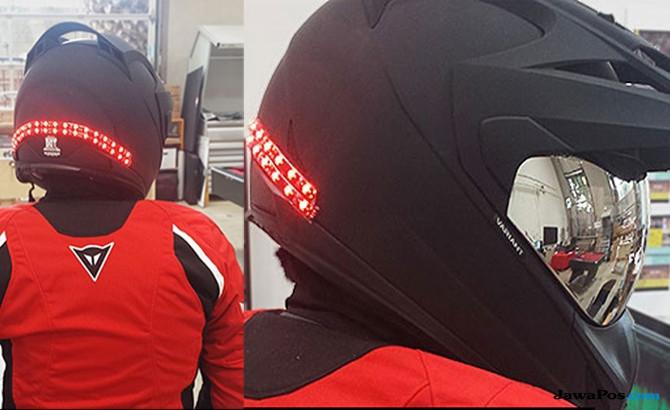 Ide Cerdas! Lampu LED Strip di Helm