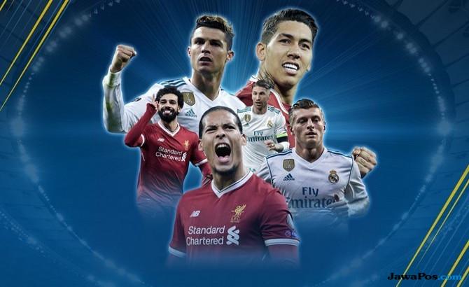Jadwal Final Liga Champions, Jadwal TV Final Liga Champions, Jadwal Liverpool vs Real Madrid, Liga Champions 2017-2018,
