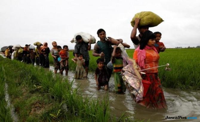 Myanmar Dirikan Fasilitas Keamanan di Tanah Rohingya yang Direbut