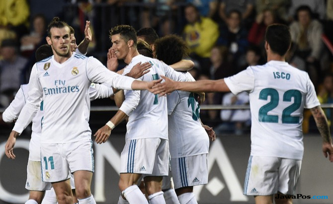 Villarreal 2-2 Real Madrid, Hasil Real Madrid vs Villarreal, Real Madrid, Cristiano Ronaldo
