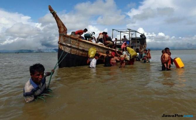 Tega, 100 Ribu Muslim Rohingya akan Dikirim ke Pulau Berlumpur
