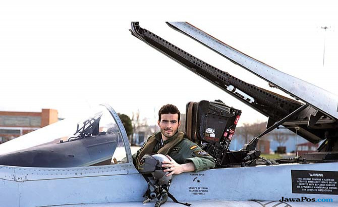 Pesawat tempur Spanyol kecelakaan, pilot tewas.