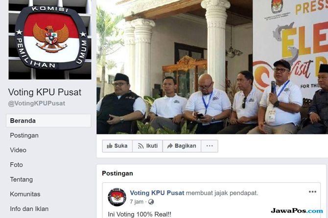 Awas, Polling Palsu Pakai Nama KPU