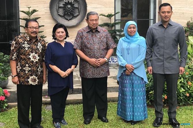 Bahas Pemenangan, Khofifah Temui SBY