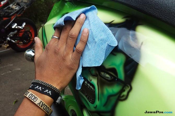 Begini Ritual Wajib Agar Airbrush Di Tubuh Motor Tetap Molek