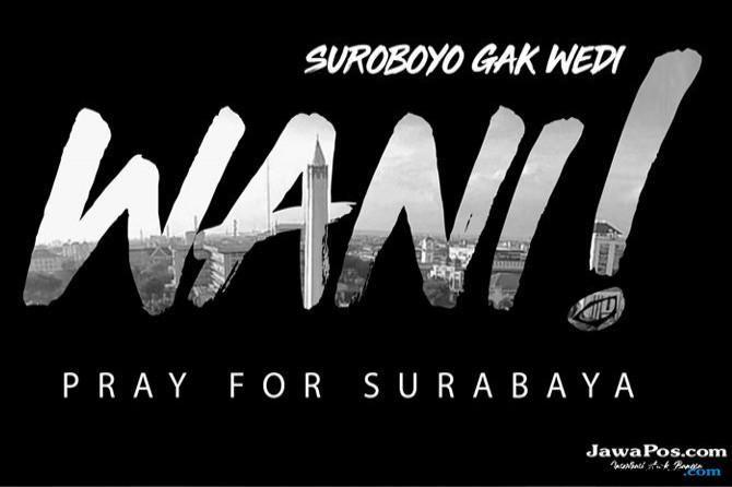 Bom Surabaya, Pray For Surabaya, Teror Bom Surabaya, Sandy Walsh,