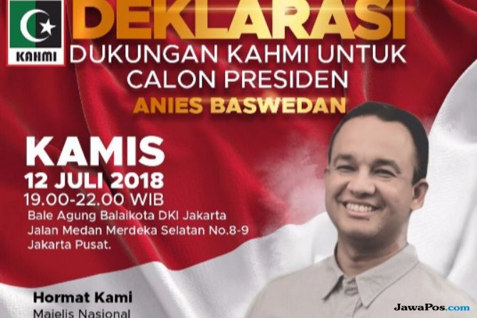 Beredar Poster Deklarasi Capres dari KAHMI, Anies Sebut Itu Hoax