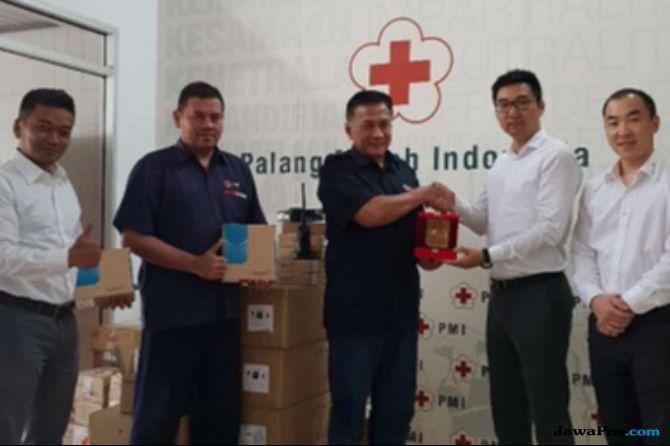 Beri Bantuan Gempa Lombok, PMI Gandeng Perusahaan Radio dari China