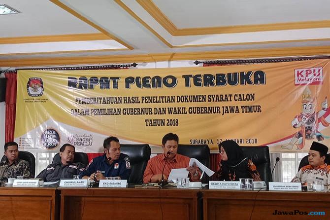 Rapat pleno terbuka KPUD Jatim