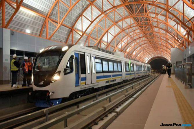 Bikin Panik Penumpang, LRT Palembang Mogok Diduga Korsleting Listrik