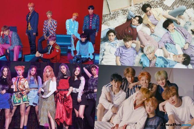 BTS dan GOT7 Tempati Posisi Lima Besar Tangga Album Billboard
