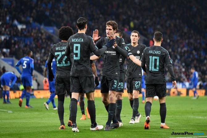 Piala FA, Chelsea, Leicester City, Pedro Rodriguez, Southampton, Manchester United, Tottenham Hotspur,