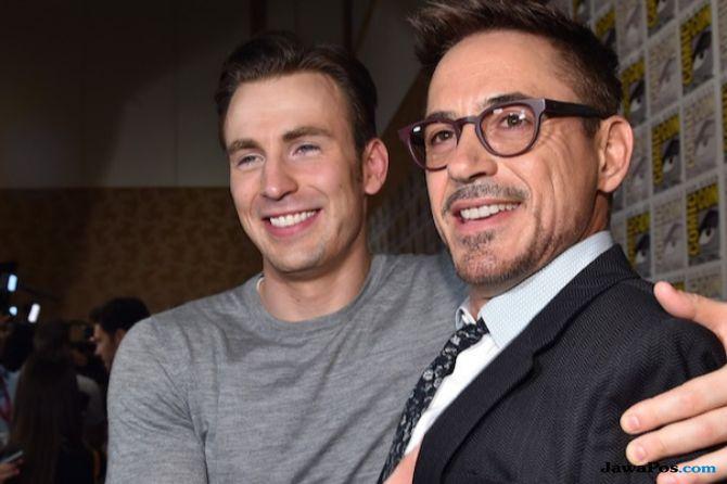 Captain america, iron man, chris evans, Robert Downey.