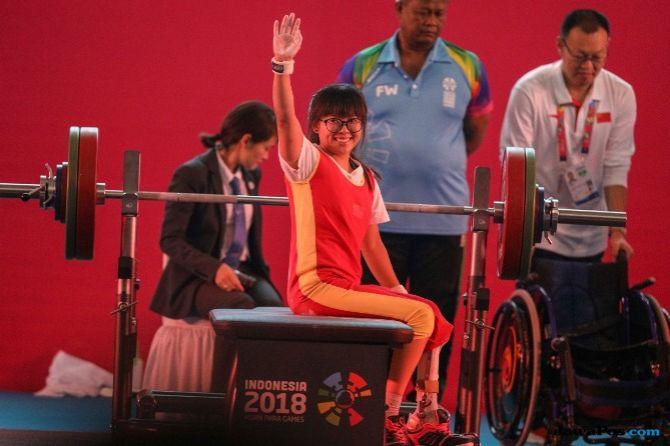 Asian Para Games 2018, angkat berat, Indonesia, Ni Nengah Widiasih, Cui Zhe