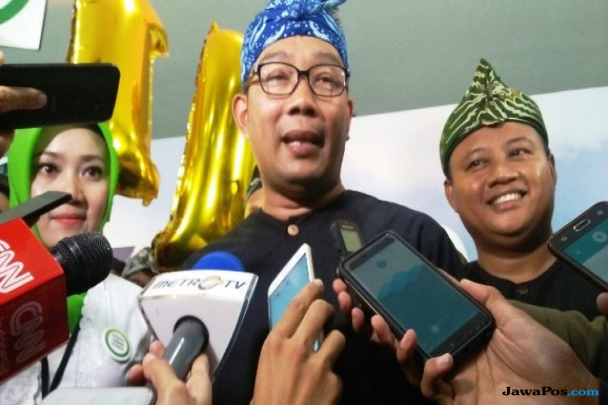 Pasangan calon gubernur dan wakil gubernur Jawa Barat 2018 nomor urut 1 Ridwan Kamil-Uu Ruzhanul Ulum.