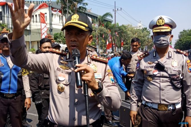 Deklarasi #2019GantiPresiden Dibubarkan, Kapolrestabes: Surabaya Aman