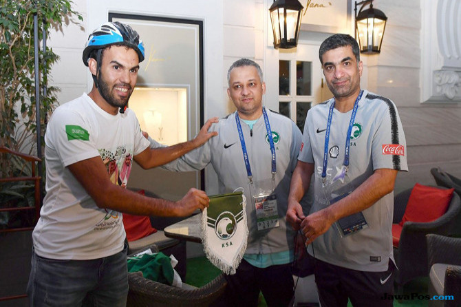 Fahd Al-Yahya, Timnas Arab Saudi, Bersepeda 5.145 Kilometer, Piala Dunia 2018
