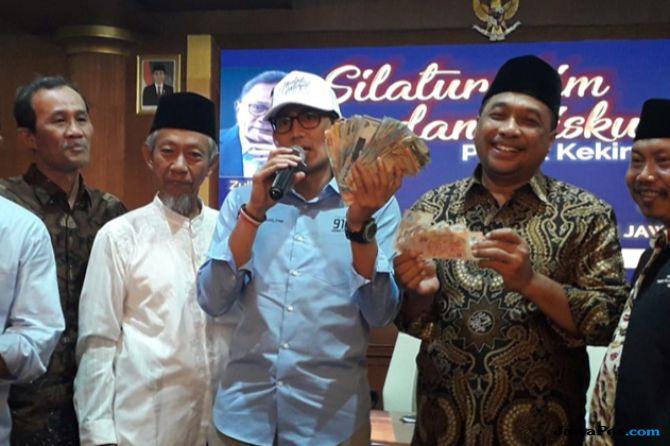 Disumbang Rp 7 juta, Sandiaga: Biasanya yang Ngasih Uang Politikusnya