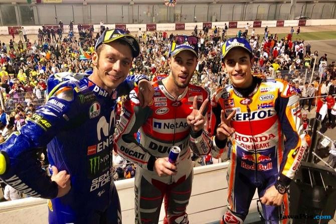 Andrea Dovizioso, Ducati, Marc Marquez, Valentino Rossi, MotoGP Qatar, MotoGP 2018,