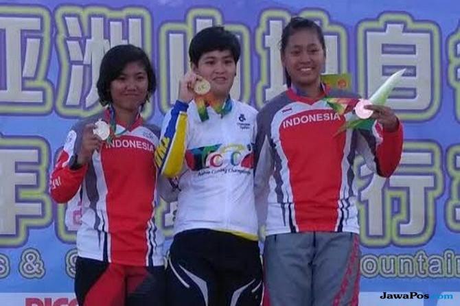 Dua Pembalap Putri Indonesia Naik Podium di MTB Asia 2017