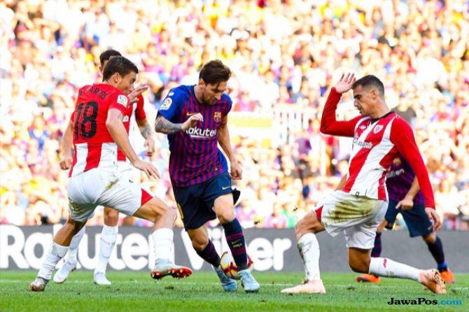 La Liga 2018-2019, Liga Spanyol, Barcelona, Athletic Bilbao, Barcelona 1-1 Athletic Bilbao