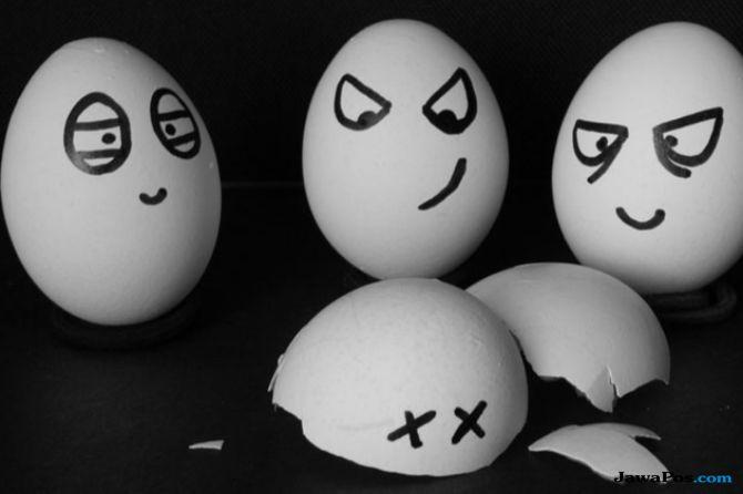 Eksperimen Telur Buktikan Cuka Tak Baik untuk Gigi