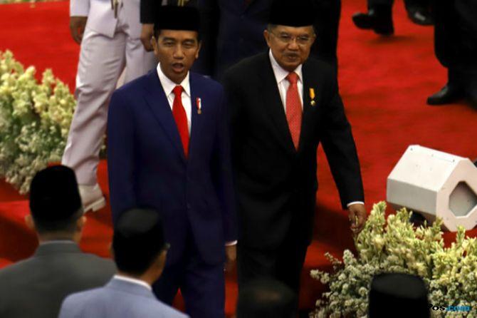 Presiden Joko Widodo dan jusuf kalla