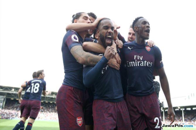 Premier League 2018-2019, Liga Inggris, Arsenal, Fulham, Arsenal menang 5-1