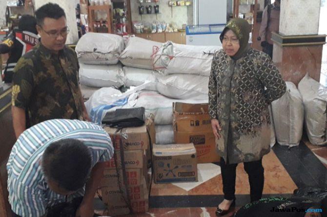 Gempa Lombok, Pemkot Surabaya Sumbang Kain Kafan