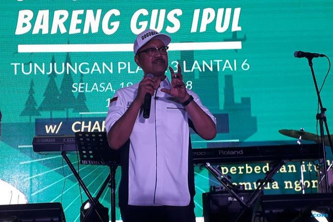 "Gus Ipul Kenalkan ""Mas Metal"" Kepada Anak Muda kaum Milenial"